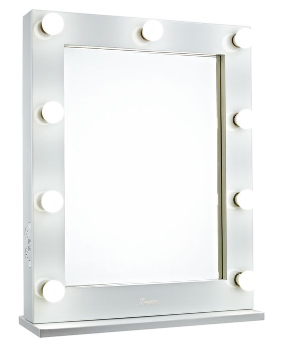 lighted hollywood vanity makeup mirror front glamour makeup mirrors. Black Bedroom Furniture Sets. Home Design Ideas