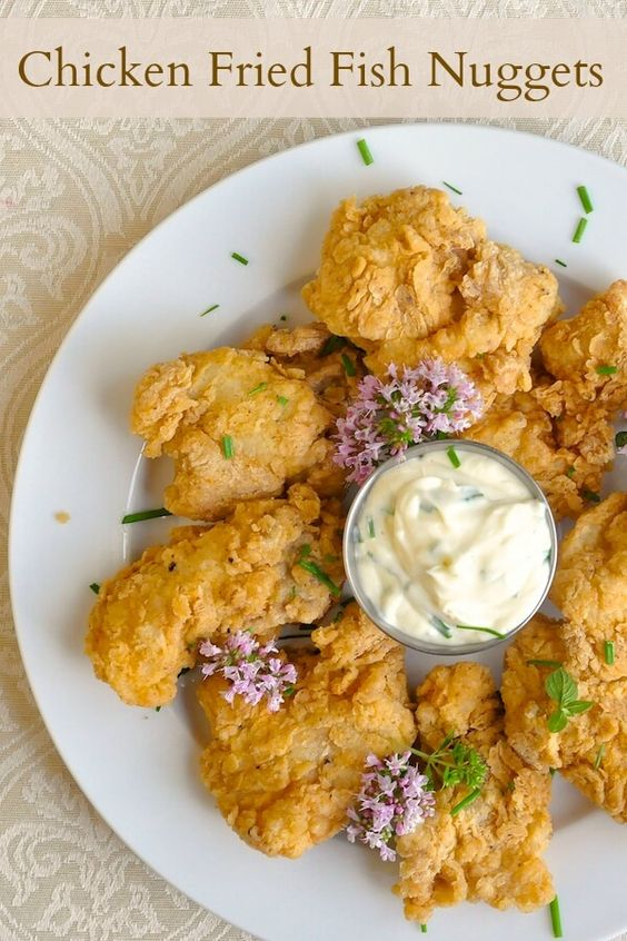 Chicken Fried Fish Nuggets - Delicious crispy fried cod or other white fish nuggets that make a terrific dinner that kids will love.