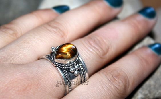 Adjustable ring Nepalese ring Tibetan Ring Nepal by goldenlines