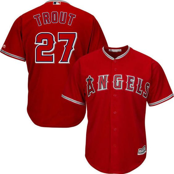 Anaheim Angels Mike Trout #27 Away Jersey