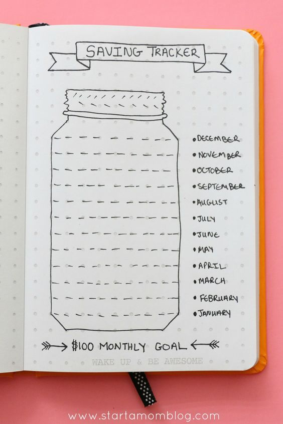 Track your savings with this great bullet journal spread. The post is awesome too and explains why saving may not be the best solution to your money issues! Awesome tips and advice!! You really should check it out!!: