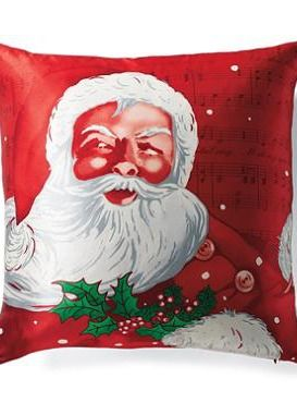 The Vintage Santa Pillow with make your seating space merrier and more festive this holiday season.
