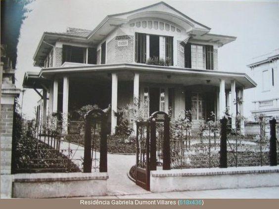 Foto de 1921 da casa de Gabriela Dumont Villares que ficava na Avenida Paulista entre a Rua Minas Gerais e a Rua Augusta, projeto escritório Ramos de Azevedo
