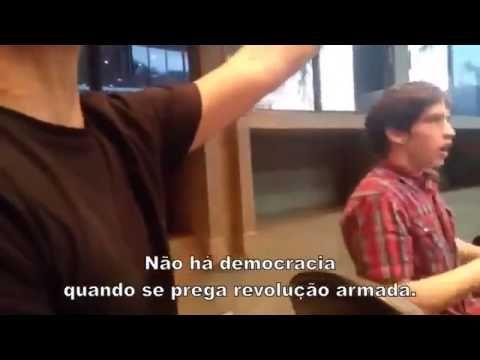COMUNISTAS da CUT e PT pregando REVOLUÇÃO e MORTE para brasileiros manif...