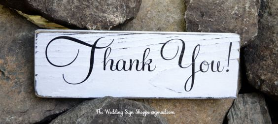 Wedding Sign Wedding Decor Thank You Gift Card Reception Wedding Ceremony Celebration Table Wedding Signs Photo Props Rustic Wedding Barn Country Outdoor Venue Beach Weddings Vintage Plaque