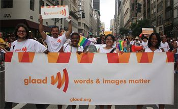 """Because """"words & images matter.""""   http://glaad.org"""