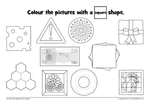 2d Shape Recognition Colouring Sheets Sb12363 Sparklebox 2d