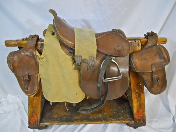Wwii, Saddles and Army on Pinterest