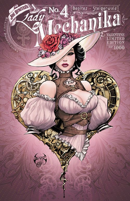 Lady Mechanika # 4 (Valentine Edition) - Variant Cover Art by Joe Benitez & Peter Steigerwald