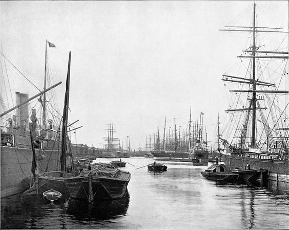 The West India Docks, c1894. Photo by Peter Facey