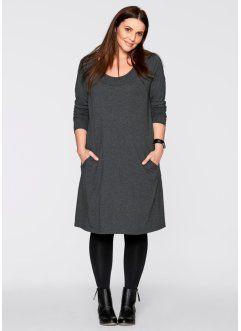 Трикотажное платье с рукавом 3/4, bpc bonprix collection, антрацитовый меланж