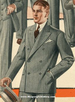 Roaring Twenties Double Breasted Suit 1925 | 1920's -1930's Mens