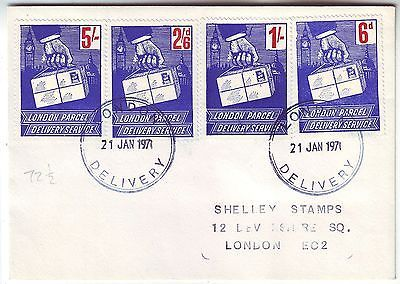 1971 great postal #strike *london #parcel delivery #service* set of 4 on cover,  View more on the LINK: http://www.zeppy.io/product/gb/2/371689732250/