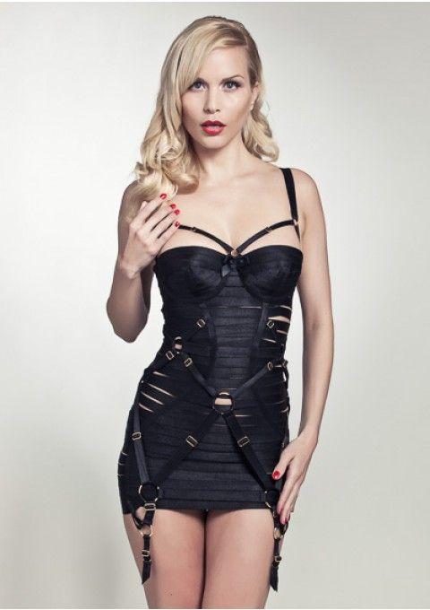 Bordelle Bondage Angela   Bondage Dress   Black