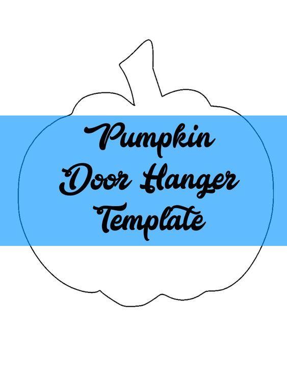 Pumpkin Door Hanger  Wreath Attachment TEMPLATE door hangers