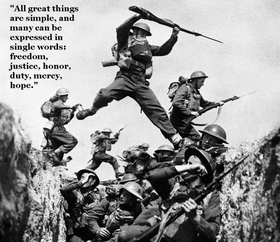 Quote from Winston Churchill.  He was Minister of the Royal Navy during WWI