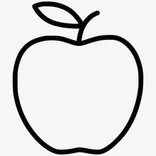42+ Apple clipart black and white outline ideas