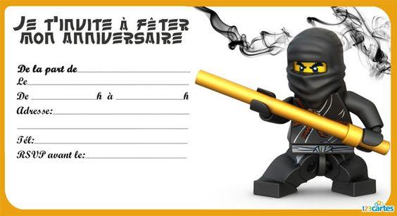Extrem Invitation Kai Ninjago | Lego | Pinterest | Anniversaires  ND32