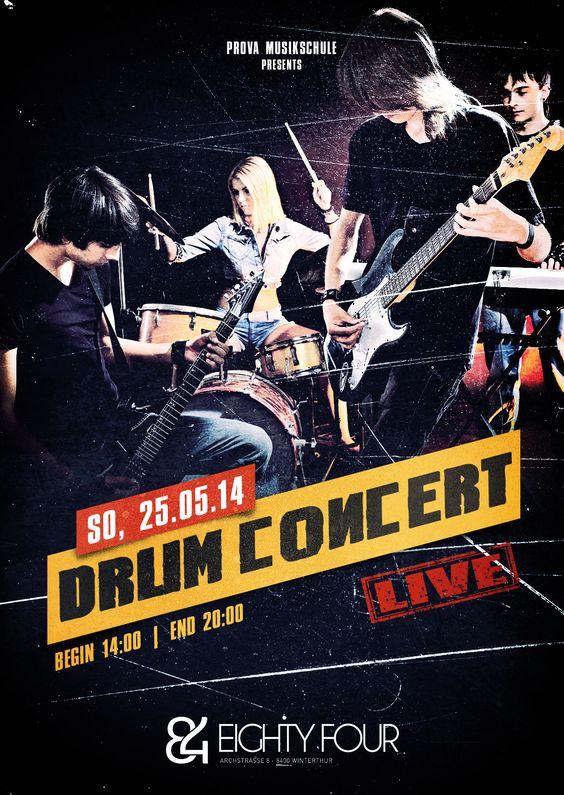 Drum Concert, eightyFour, #flyer #design