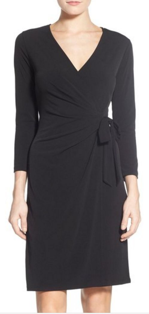 Simple faux wrap dress