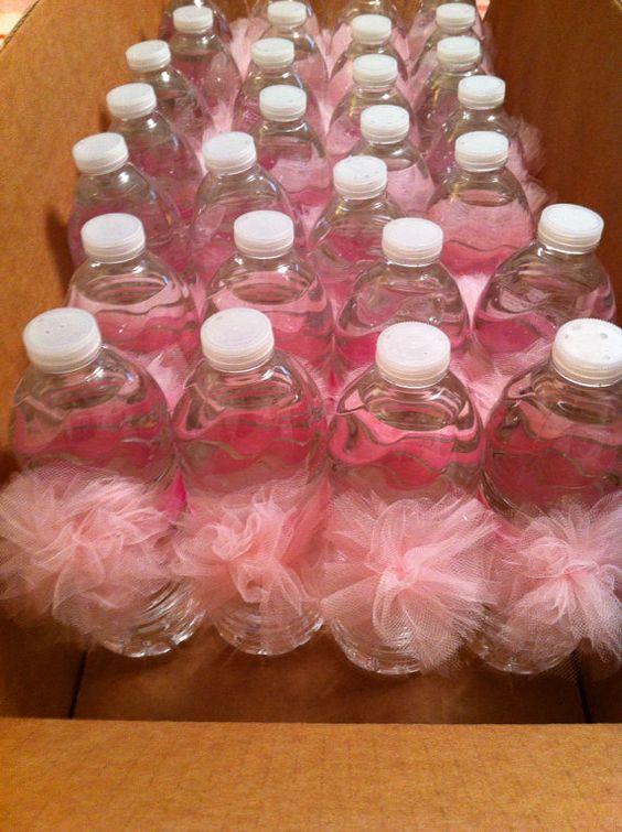 Water Bottle Pom Poms TuTu Themed Baby Shower by CasitaDeCositas, $20.00