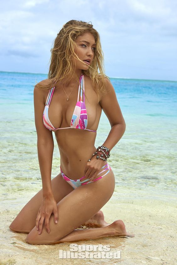 Gigi Hadid ✾ by Yu Tsai for Sports Illustrated Swimsuit Issue 2016   See more at http://www.spikesgirls.com