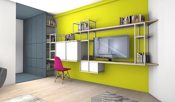 La maison france 5 cr ation d un bureau dans un s jour for Decoration maison france 5