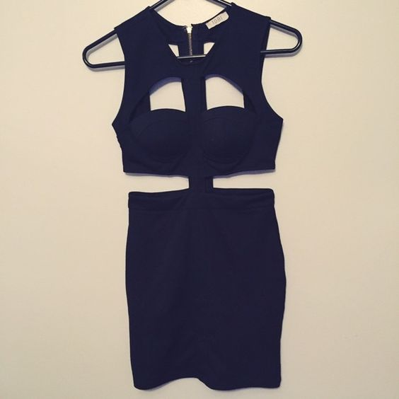 Tobi Black Cutout Dress Worn once! Perfect for going out Tobi Dresses Mini