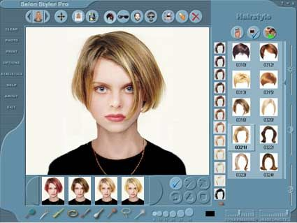 Salon Styler Pro 7 Virtual Hairstyle Program Review And Free Download Software Hair Makeover New Hair Virtual Hairstyles Free
