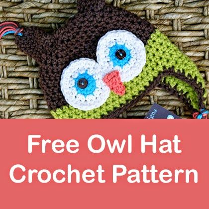 Free Crochet Pattern Owl Family : Hat crochet patterns, Owl hat and Hat crochet on Pinterest