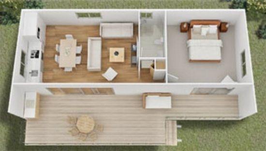 GREEN PLANS TINY HOUSE floorplanstiny modern cottage home plan