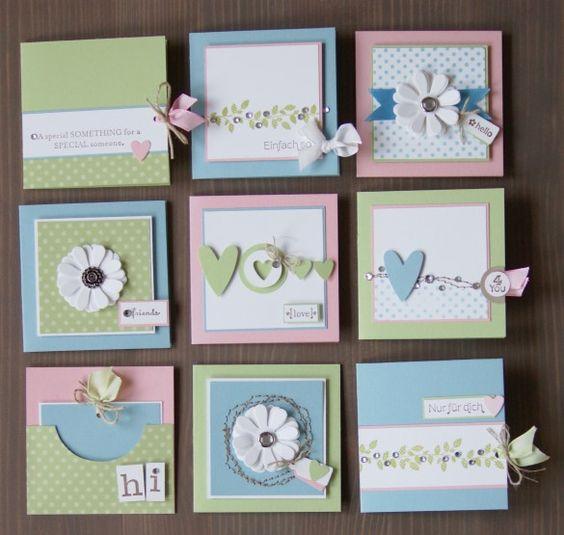 9 little cute cards