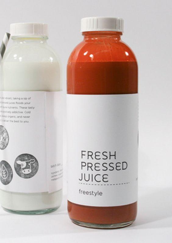 Again a simple design for juice bottles Juice Bar Pinterest - fresh blueprint cleanse hpp