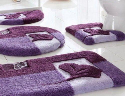 purple rug | Thick Bathroom Rug Purple Color Quality Bathroom Rugs ...