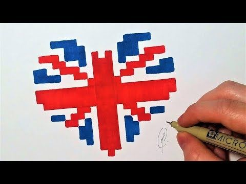 Pixel Art Facile à Faire Coeur