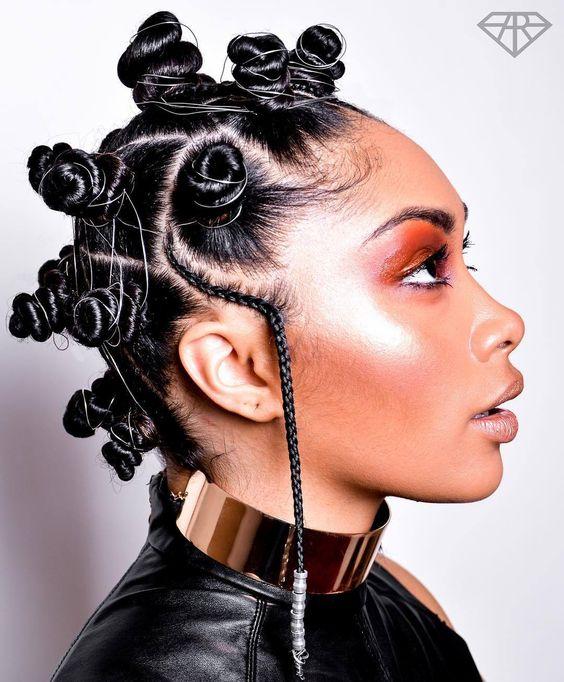 Braided Hairstyles for Women, Braided Bantu Knots