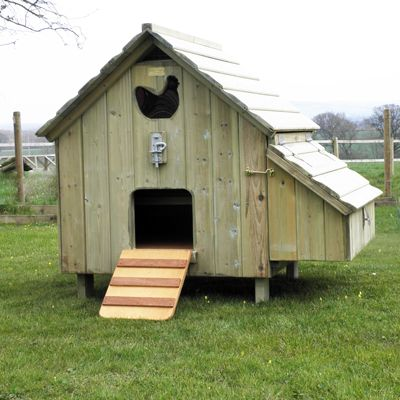Maggie's Six Hen House with a 'chicken window':