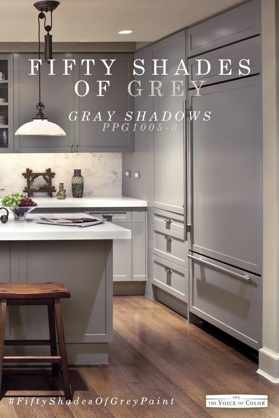 Kitchen color schemes kitchen colors and gray kitchens on for Kitchen paint colors grey