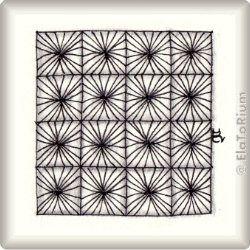 Zentangle-Pattern 'Faux-cets' by Katie Booth, presented by www.ElaToRium.de