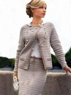 Виды женского делового костюма