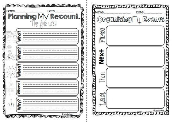 Writing Recounts - for Kindergarten, First, Second and Third Grade ...