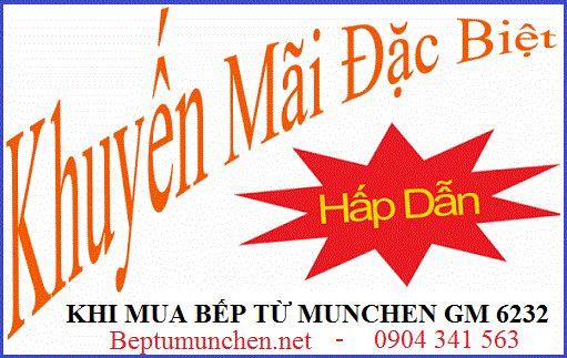 Chương trình khuyến mại mới nhất khi mua bếp từ Munchen GM 6232