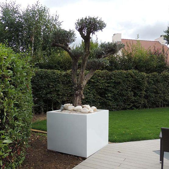 Promotion Blanco Pot Exterieur En Resine Jardins Pot