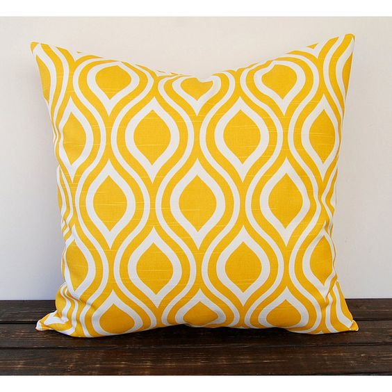 Yellow Pillow Cover One Nicole Corn Yellow Cushion Cover Modern... ($14) liked on Polyvore ...