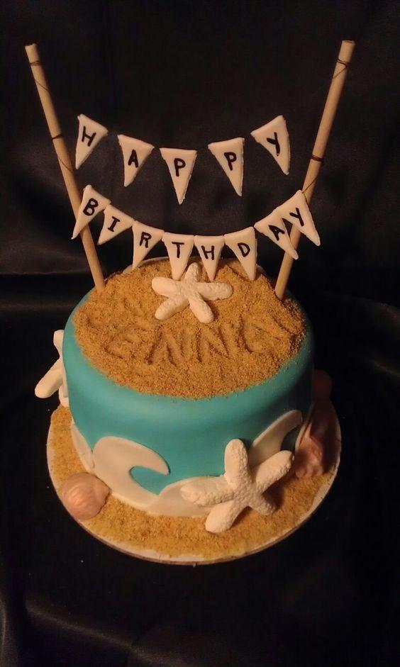 ... cakes cake bunting beach birthday cakes decorating supplies writing
