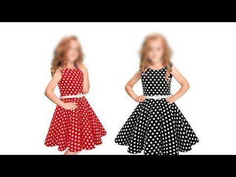 تفصيل فساتين اطفال طريقة قص فستان كلوش للعيد خطوة خطوة للمبتدئين الجزء الأول Youtube Pencil Skirt Pattern Dress Sewing Patterns Summer Dresses
