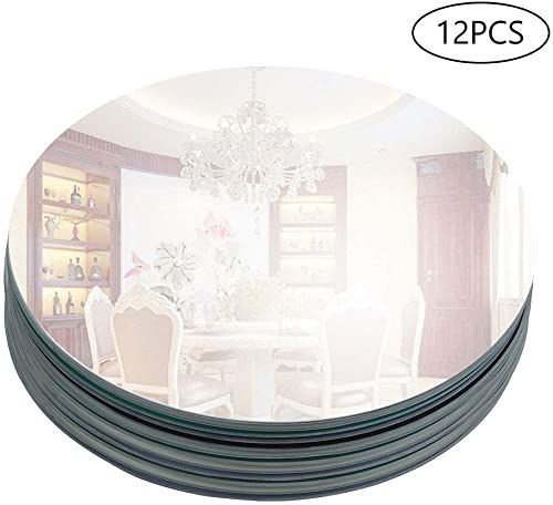 Amazing Offer On Murrey Home 12 Round Mirror Tray Wedding Decorations Decor Candle Tray Plate Baby Shower Parties Centerpieces Set 12 2mm Online In 2020 Sun Wall Decor Plates Baby Shower Candle Tray