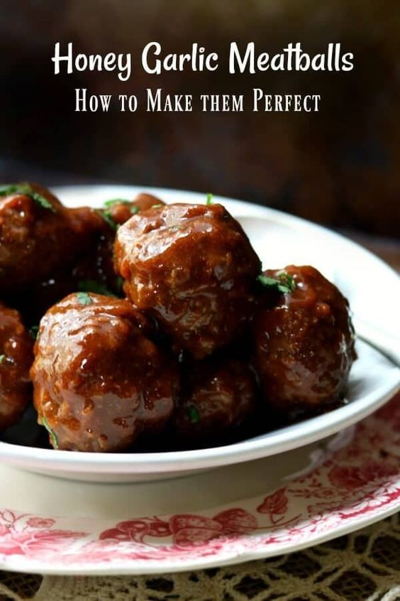 Easy Meatball Recipe with Honey Garlic Sauce