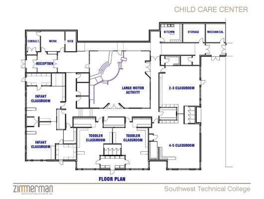 Daycare Center Blueprints Floor Family Child Care Classroom Floor Plan Daycare Design