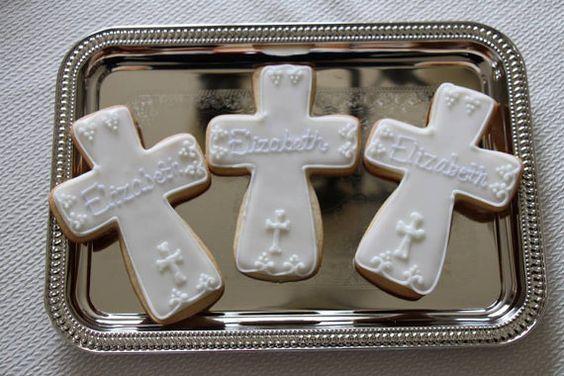 Cross Cookies  (1 dozen) on Etsy, $36.00